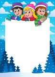 Winter theme frame 1 Stock Image