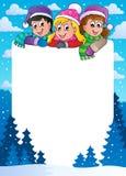 Winter theme frame 1. Vector illustration Stock Image