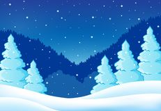 Winter theme landscape 2 Royalty Free Stock Images
