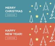 Winter theme web banners.  Stock Image