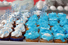 Winter Themed Party Cupcakes Royalty Free Stock Photography