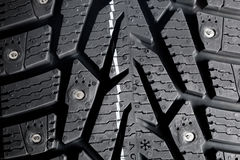 Winter thorn tire Royalty Free Stock Photos