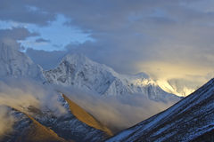 Winter in Tibet Stock Image