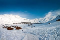Winter in Tignes Royalty Free Stock Photography