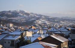 Winter in the Tikvesh wine region. Edge of Kavadarci, Macedonia. Royalty Free Stock Image