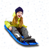 Winter time. Young Child in winter time Royalty Free Stock Photography