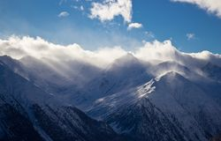 Winter time in Alps Stock Photos