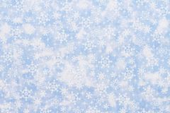Winter Time Background blue with snowflakes Royalty Free Stock Image