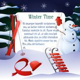 Winter Time Background Stock Images