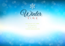 Winter time background with text - illustration. Royalty Free Stock Photos