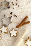 Winter time baking Royalty Free Stock Photos