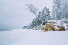 Winter time on the Baltic sea. 2016 stock photos