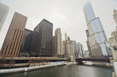 Winter time in Downtown Chicago Stock Photography
