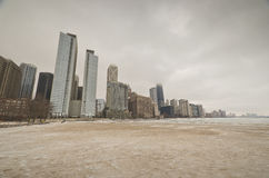 Winter time in Downtown Chicago Royalty Free Stock Images