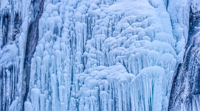 Winter time frozen waterfall Royalty Free Stock Image