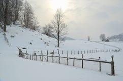 Winter time in Fundata. Shot taken in Fundata, Brasov, Romania, Europe, 2012 Stock Photos