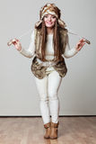 Winter time girl fashion. Royalty Free Stock Images