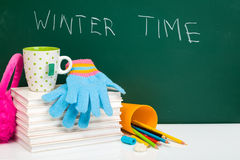 Winter time is here Stock Image