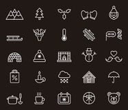 Winter time icons vector illustration