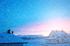 Winter time outside. Royalty Free Stock Image