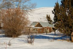 Winter time at an Owyhee homestead Stock Photo