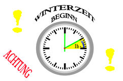 Winter time, time conversion Stock Image