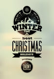 Winter time. Typographic Retro Vector Christmas Design. Royalty Free Stock Photos