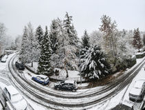 Winter time, Varese - Italy Royalty Free Stock Image