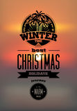 Winter time. Vector illustration. Royalty Free Stock Photo