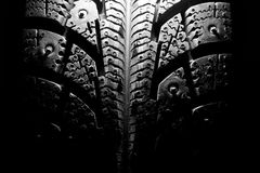 Winter tire Stock Images