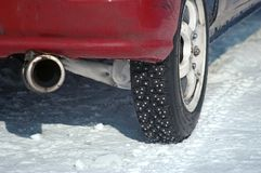 Winter tire Royalty Free Stock Photos