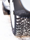 Winter Tire Stock Photography