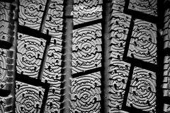 Winter tire background Royalty Free Stock Photo