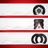 Winter tire banners royalty free illustration