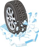 Winter tire Royalty Free Stock Photo