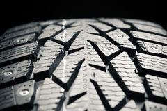 Winter tire, close-up view Royalty Free Stock Images
