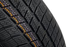 Winter Tyre Royalty Free Stock Photography