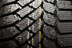 Winter tire protector with studs Royalty Free Stock Photos