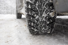 Winter tire Stock Photos