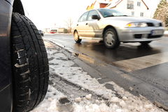 Winter tire Royalty Free Stock Images