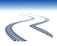 Winter tire tracks Royalty Free Stock Image