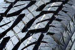 Winter tire tread Royalty Free Stock Image