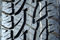 Winter tire tread Royalty Free Stock Photography