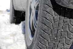 Winter tires of a car Stock Image