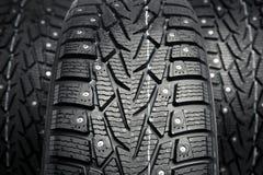 Winter tires closeup Stock Images
