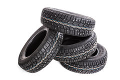 Winter tires isolated Royalty Free Stock Image