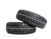 Winter tires isolated Stock Photography