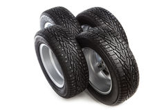 Winter tires set Royalty Free Stock Photos