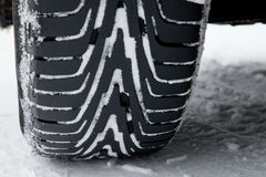 Winter Tires In The Snow Stock Images