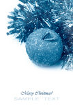 Winter toned christmas image with decorations Stock Photography